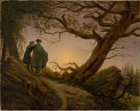 Friedrich - Two Men Contemplating the Moon - 1830