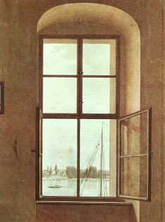 Friedrich - View from the Artists Studio, Window on Left - nd