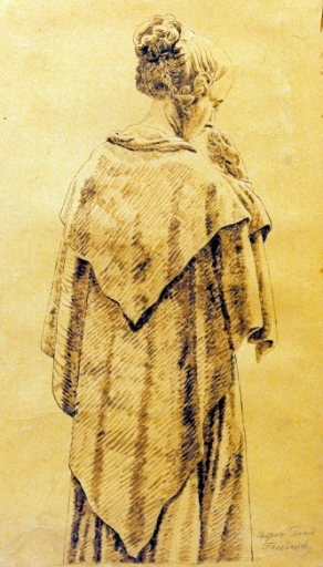 C.D.Friedrich, Frau im Umschlagtuch - Friedrich / Woman in a shawl / c.1818 -