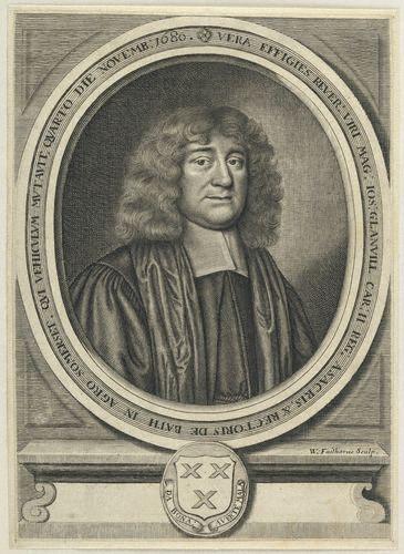 NPG D22746,Joseph Glanvill (Glanville),by William Faithorne